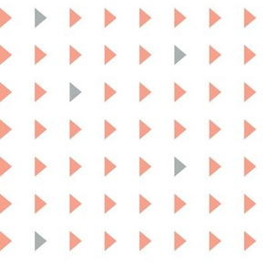 triangles // light coral and grey