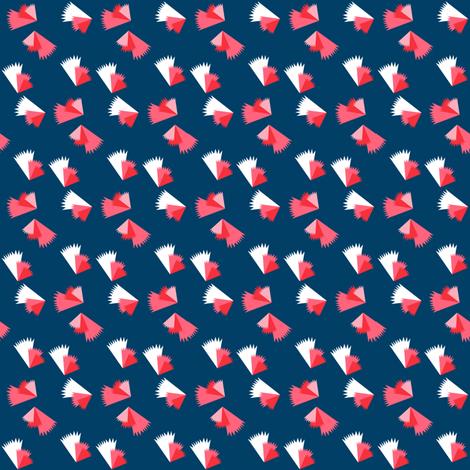Navy Pinwheels SMALL fabric by blackbirdhotel on Spoonflower - custom fabric