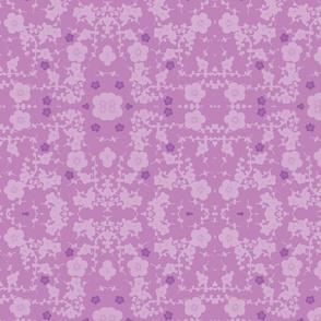purple on purple cherry blossoms