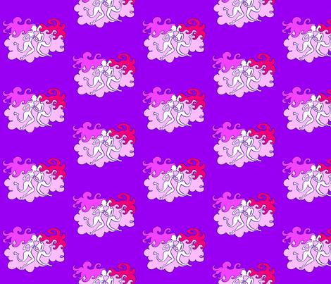 The Kiss fabric by margreetdeheer on Spoonflower - custom fabric