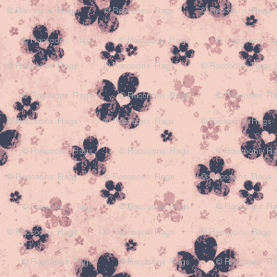 grungy flowers ditsy - pink