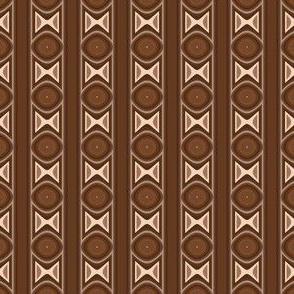 Dark Brown Tribal Stripe Small
