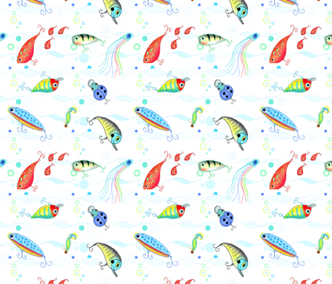 Fish with me fabric by designed_by_debby on Spoonflower - custom fabric