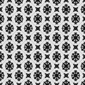 Elegant Royal Black and Grey Medallion Pattern