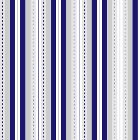 Elegant Royal Blue & Grey Dotted Stripe fabric by jannasalak on Spoonflower - custom fabric