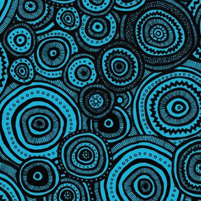 Tribal Circles (Blue)