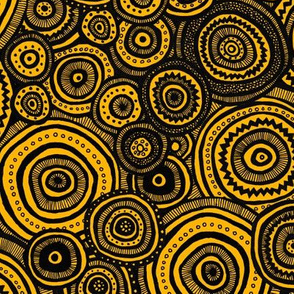 Tribal Circles (Orange)
