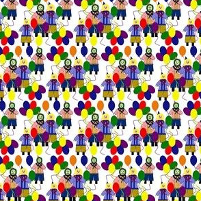 Clowns and Balloon Fabric