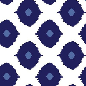 Ikat Eyes navy and dusk