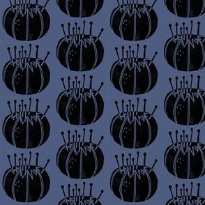 pincushions // sewing fabric block print linocut crafts sewing design fabric