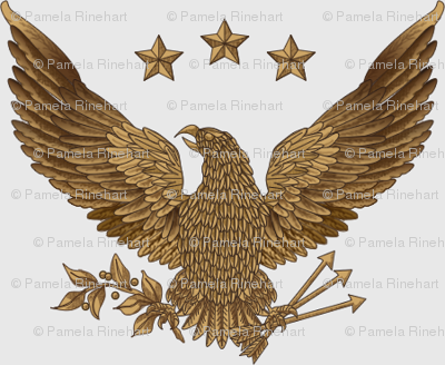 Gold Eagle - 3 inches wide