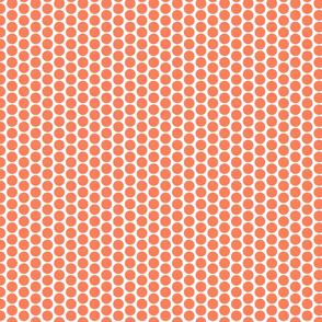 Orange polka dots on white by Su_G