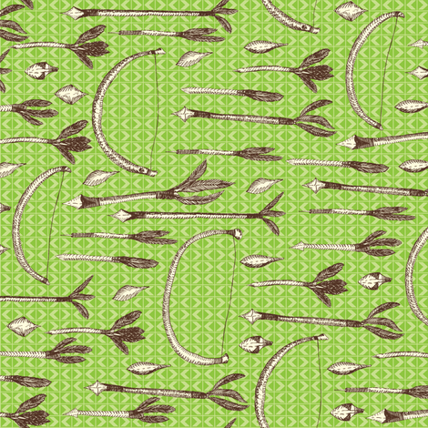 A Boy's Own Archery Set, Under the Greenwood - Textured Light on Leaf Green fabric by rhondadesigns on Spoonflower - custom fabric