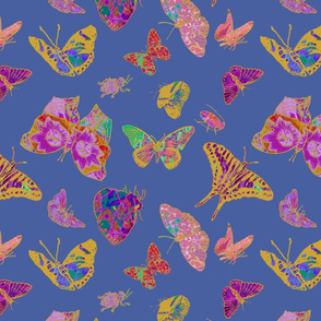 Ghana Butterflies on Steel Blue