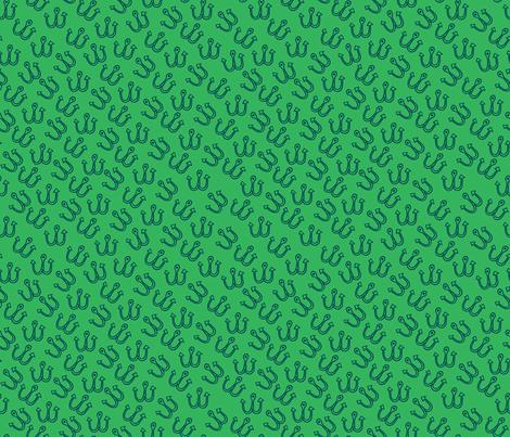 Hook It Green - small fabric by suestrobel on Spoonflower - custom fabric