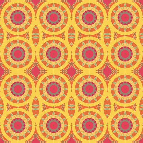 Cheerful Yellow Kaleidoscope Suns fabric by gingezel on Spoonflower - custom fabric