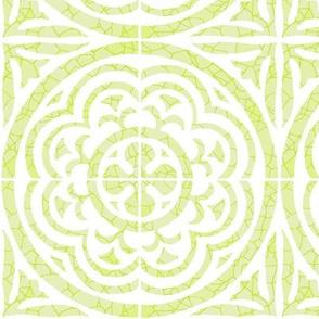 Floral Tile, Citrine