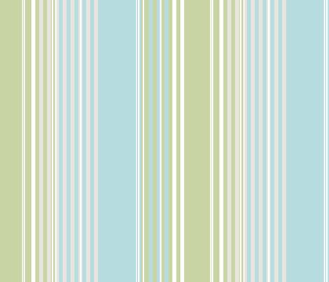 Fern Stripes fabric by fig+fence on Spoonflower - custom fabric