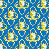Blue Ring Octopus Quarterfoil