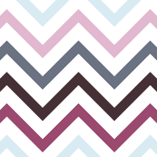 Chevrons in Pinks and Blues