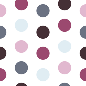 Polkadots in Pinks and Blues