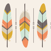 Boho Feathers in Neutral