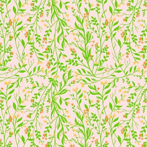 Tangled Green Orange Pale Pink, Smaller