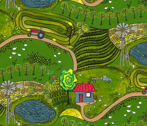 down on the farm fabric by bippidiiboppidii on Spoonflower - custom fabric