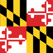 Tiny Maryland Flags