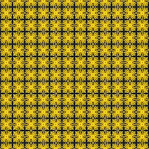 yellow and black riffled grid