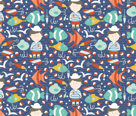 catch of the day fabric by oliveandruby on Spoonflower - custom fabric