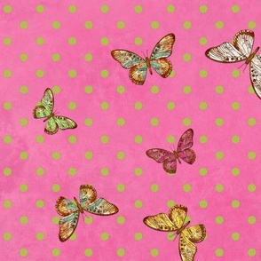 Polka Dot Butterfly Serenade