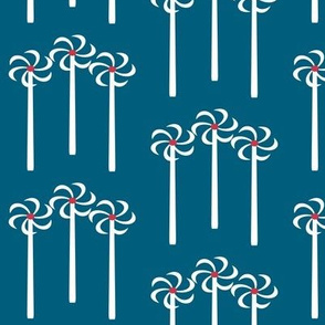 Wind turbines on teal by Su_G