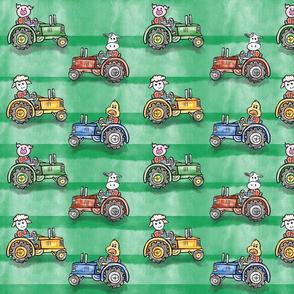 Animals Drive Tractors
