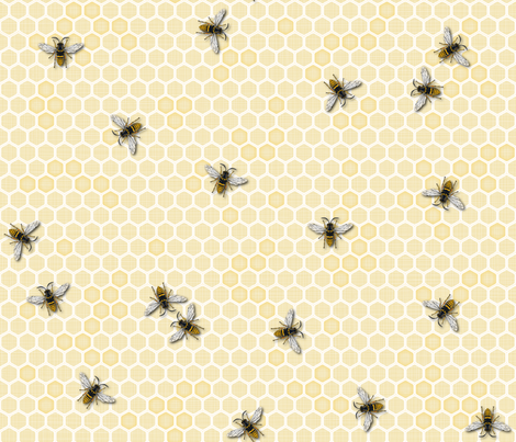 Honey, a Bee Farm! fabric by juliesfabrics on Spoonflower - custom fabric