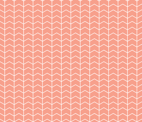 coral chevron fabric by littlearrowdesign on Spoonflower - custom fabric
