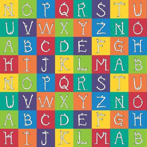 """monster alphabet 3"""" blocks"""
