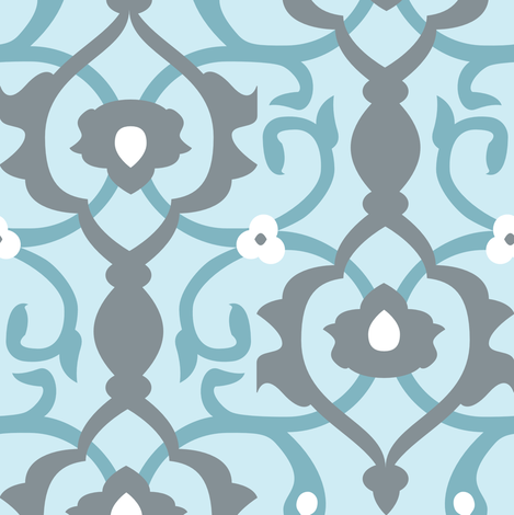 Spa Arabesque fabric by audsbodkin on Spoonflower - custom fabric