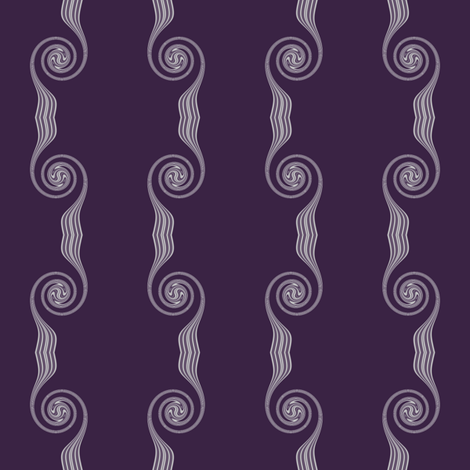 Spiral Stripes in Plum fabric by gingezel on Spoonflower - custom fabric