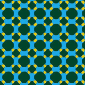 16jun14#8   -Dark Green and Yellow on Blue