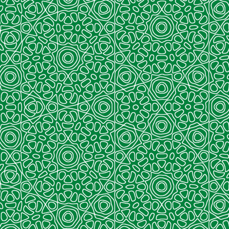 Green Christmas Lace fabric by weavingmajor on Spoonflower - custom fabric
