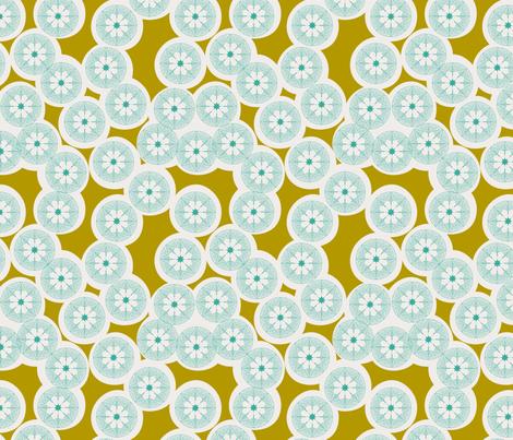 Fox Flowers Olive Small fabric by natitys on Spoonflower - custom fabric