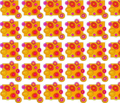 Sunny Circles on Gold fabric by studiosarcelle on Spoonflower - custom fabric