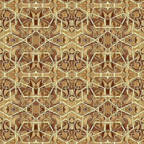 The Church of Milk Chocolate fabric by edsel2084 on Spoonflower - custom fabric
