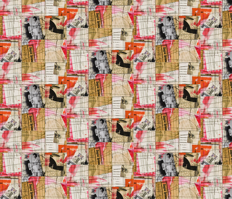 Merz Squares fabric by studiosarcelle on Spoonflower - custom fabric