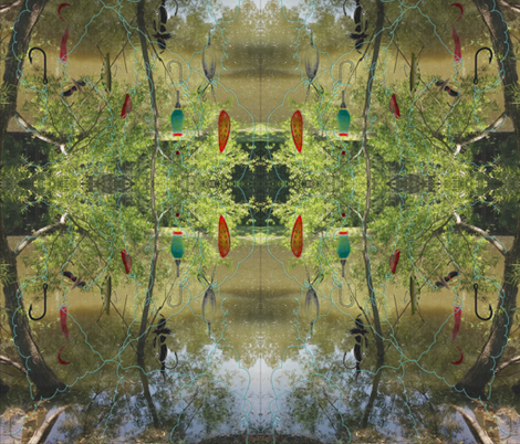 Snag A Tree fabric by charldia on Spoonflower - custom fabric