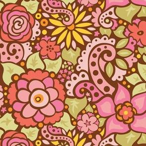 Retro Pink Flowers