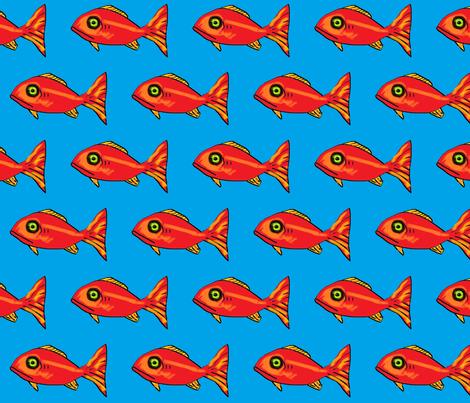 big_red_fish fabric by dvora on Spoonflower - custom fabric