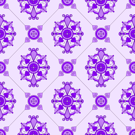 Elegant Purple Medallion Pattern  fabric by jannasalak on Spoonflower - custom fabric