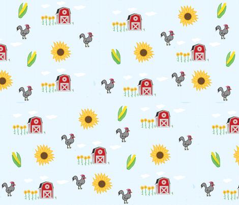 Kansas Farm fabric by pixabo on Spoonflower - custom fabric